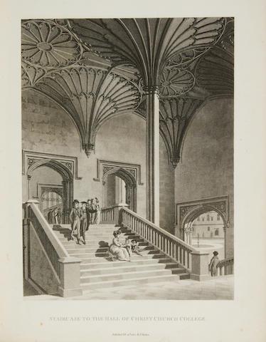 MALTON, THOMAS. 1748-1804. Views of Oxford.  London: T. Malton, 1802-1805.