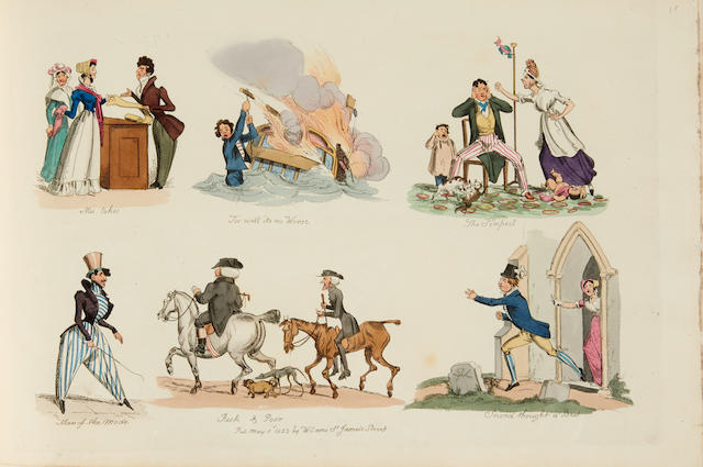 HEATH, WILLIAM. 1795-1840. Studies from the Stage, or the Vicissitudes of Life. London: W. Sams, [1823].