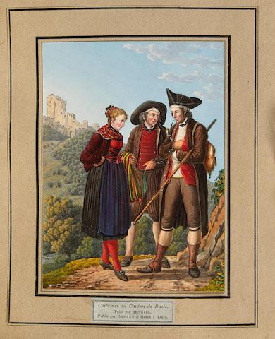 REINHARD, JOSEPH. 1749-1824. Collection de Costumes Suisses des XXII Cantons. Basel: Birmann & Huber, 1819.