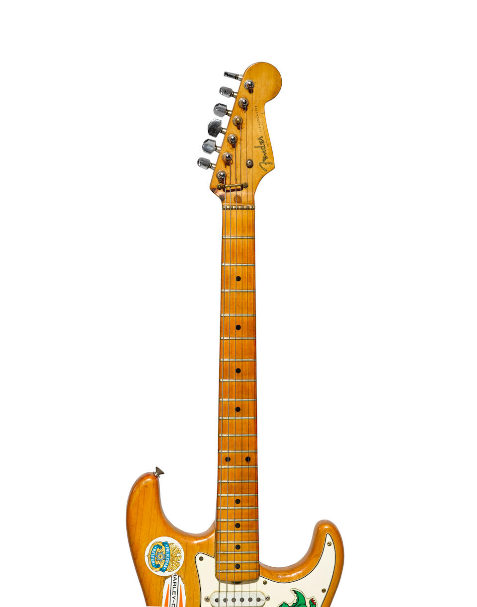 ALLIGATOR! A FENDER STRATOCASTER OWNED AND PLAYED BY JERRY GARCIA OF THE GRATEFUL DEAD