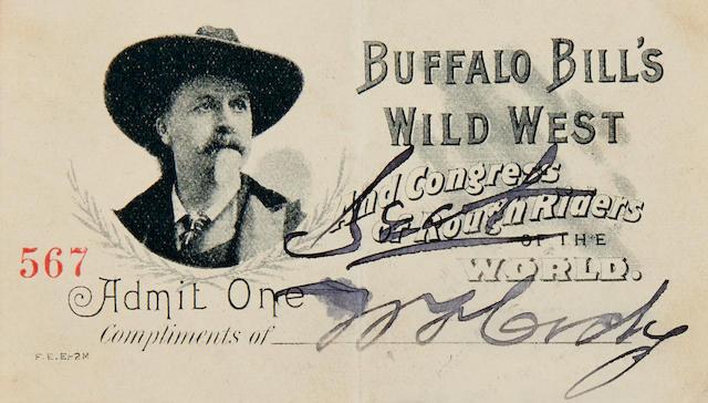 """CODY, WILLIAM F. """"BUFFALO BILL."""" 1846-1917. Document Signed (""""W.F. Cody""""),"""