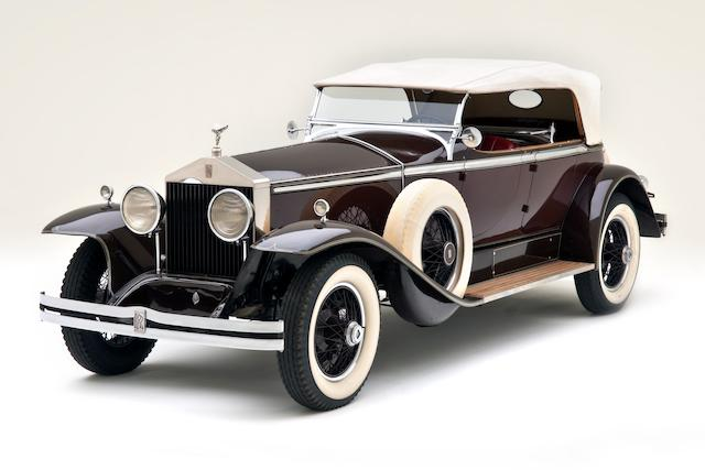 <i>Offered from the esteemed Robert M. and Anne Brockinton Lee Collection</I><br /><B>1930 Rolls-Royce Phantom I Derby Dual Cowl Tourer  </b><br />Chassis no. S402MR <br />Engine no. 22029
