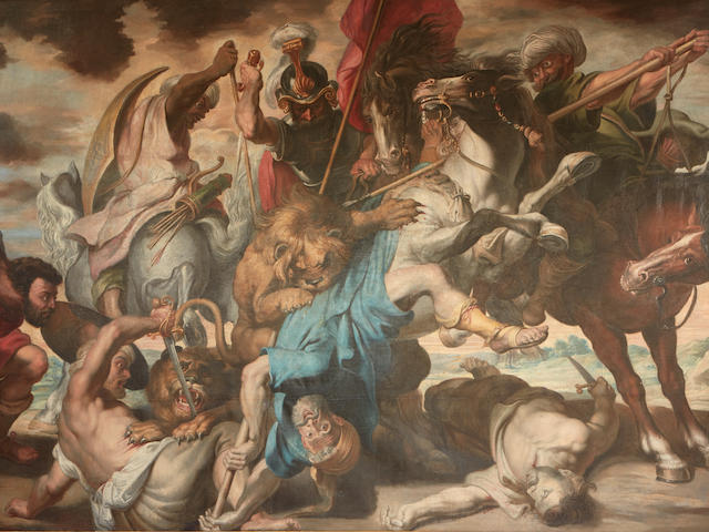 After Sir Peter Paul Rubens The Lion Hunt 101 1/2 x 145 1/2in (257.8 x 369.6cm)