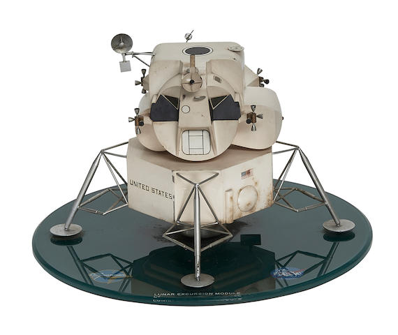 HAND CRAFTED LUNAR MODULE CONTRACTOR'S DEVELOPMENT MODEL.