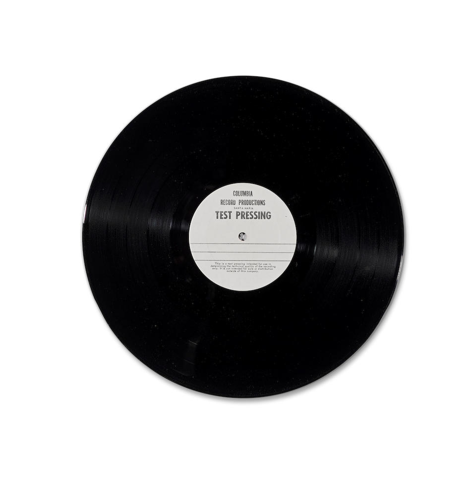A JERRY GARCIA TWO-SIDED TEST PRESSING FOR WORKINGMAN'S DEAD  circa 1971