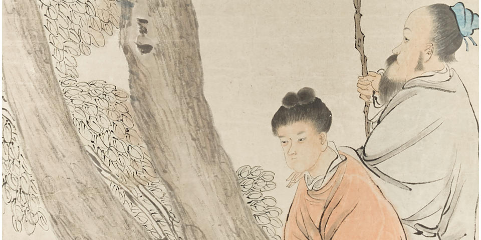 Ren Yi (1840-1895)  Figures in Landscapes, 1881 (4)