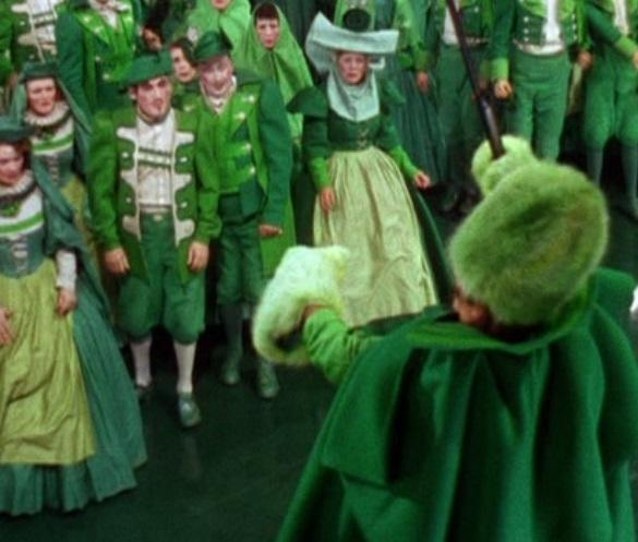 An Emerald City citizen coat from The Wizard of Oz