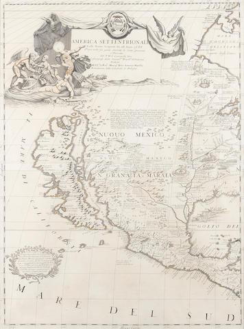 CORONELLI, VINCENZO MARIA. 1650-1718. America Settentrionale Colle Nuoue Scoperto fin all' Anno 1688. Venice: 1688.