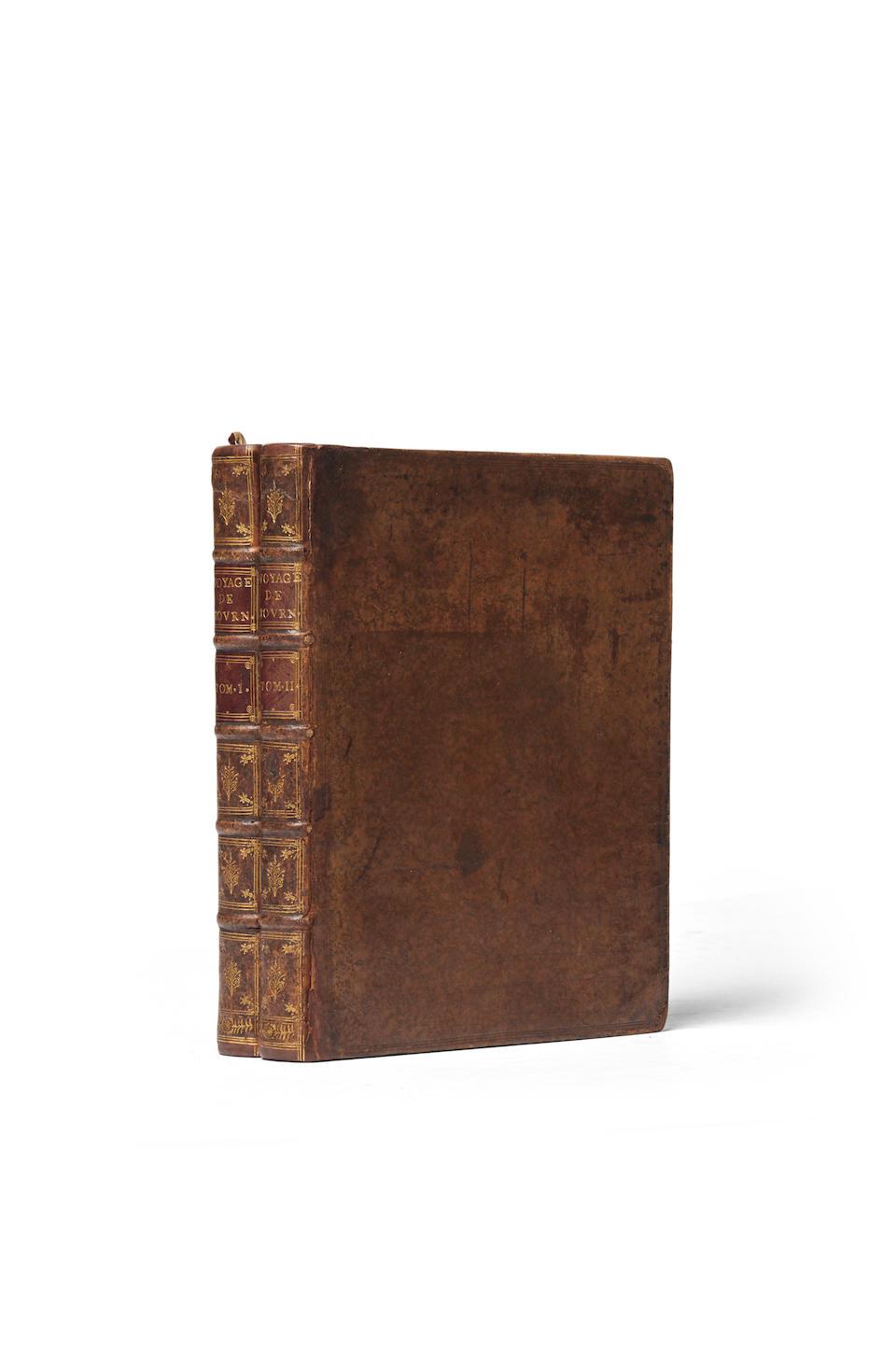TOURNEFORT, JOSEPH PITTON DE. 1656-1708. Relations d'une Voyage du Levant. Amsterdam: aux dépens de la Compagnie, 1718.