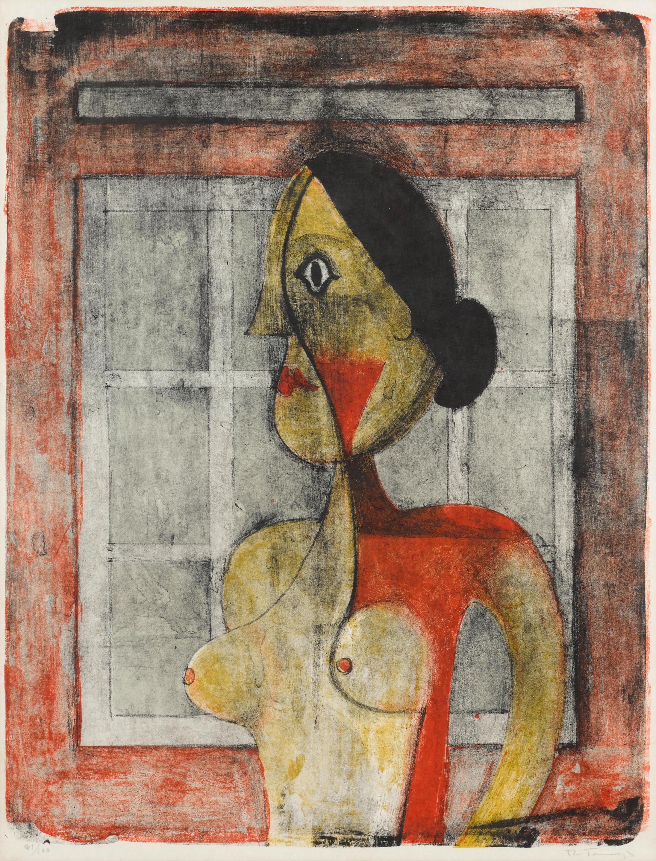 Rufino Tamayo (1899-1991); Portrait de Femme, from Mujeres;