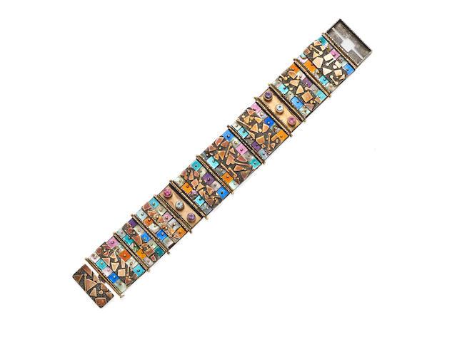 An enamel and gem-set bracelet, Earl Pardon