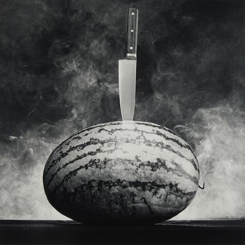 Robert Mapplethorpe (1946-1989); Watermelon with Knife;