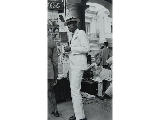 Walker Evans (1903-1975); Citizen in Downtown Havana;