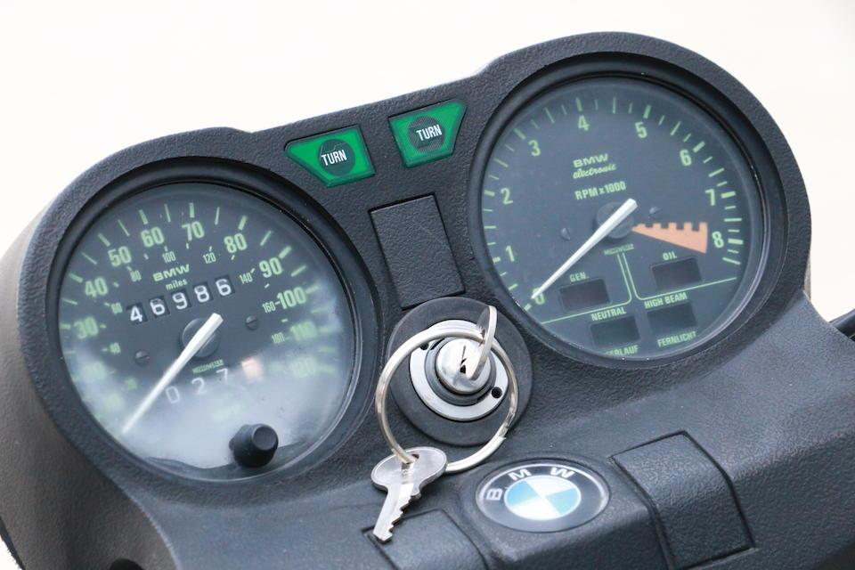 1982 BMW R65 Frame no. WB1036409C6386274 Engine no. 6386274