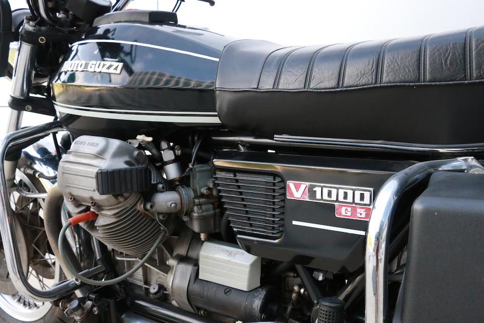1977 Moto Guzzi V1000 G5 Frame no. VG-200783 Engine no. VG-200783