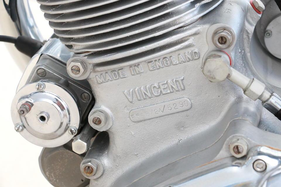 1950 Vincent 499cc Comet Frame no. RC/1/8412 Engine no. F5AB/2A/5290