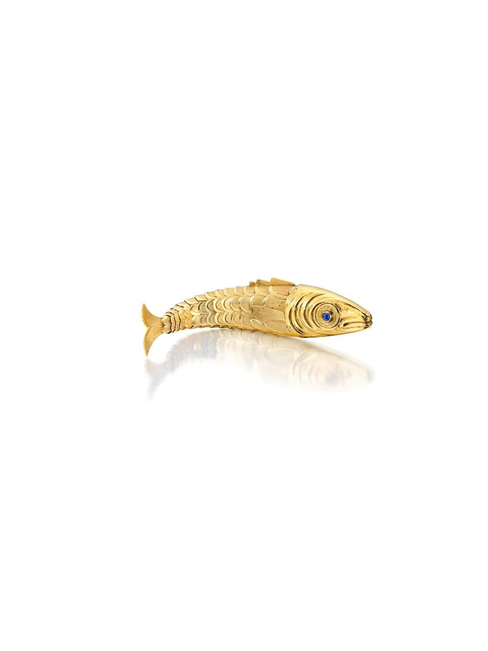 A rare gold and gem-set lighter, Jean Schlumberger,