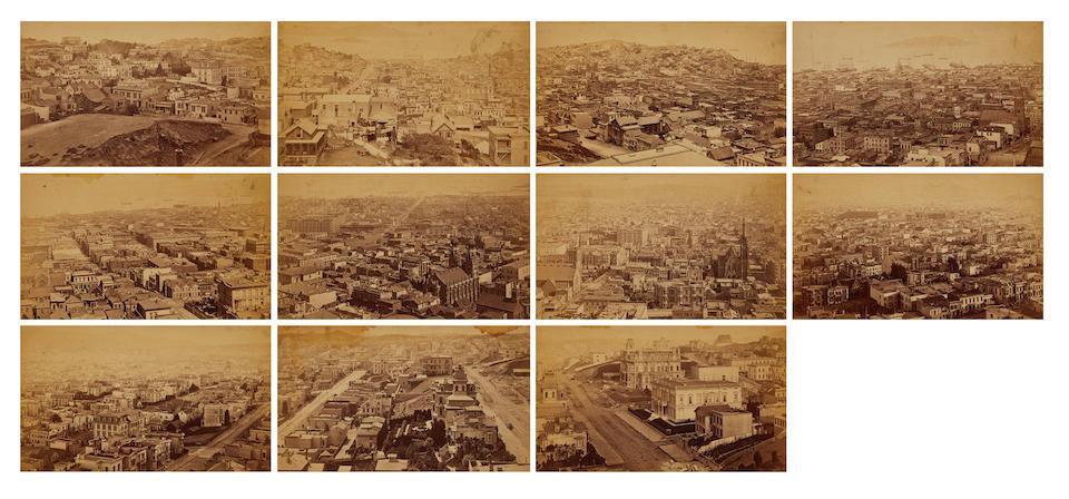 Eadweard Muybridge (1830-1904); Panorama of San Francisco from California Street Hill;