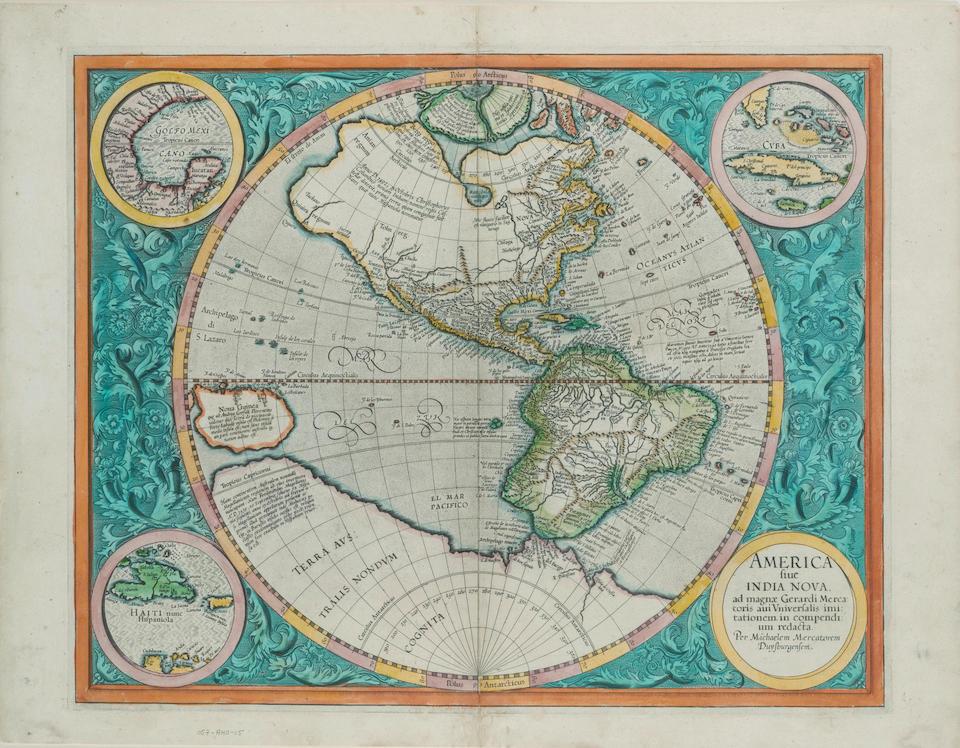 MERCATOR, MICHAEL. c.1567-1600. America sive India Nova. [Amsterdam: 1595, but 1613 or later.]