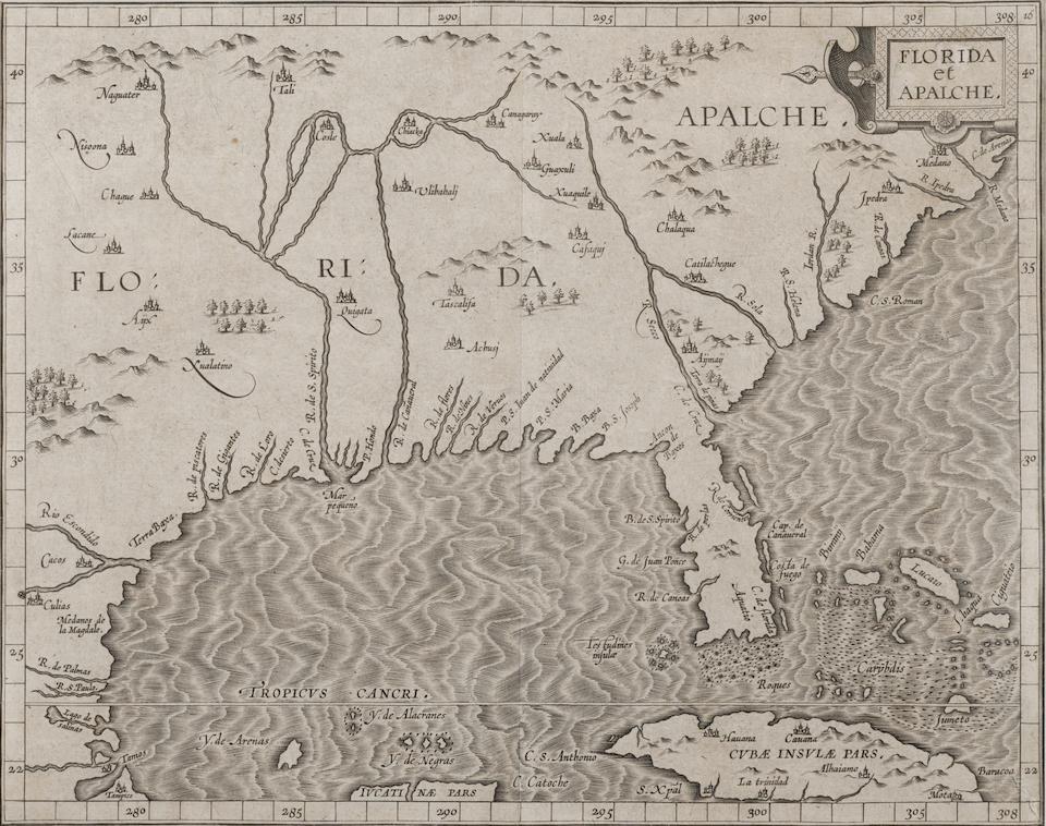 Wytfliet, Cornelis van, 1555-1597. Florida et Apalche. [Louvain: 1597.]