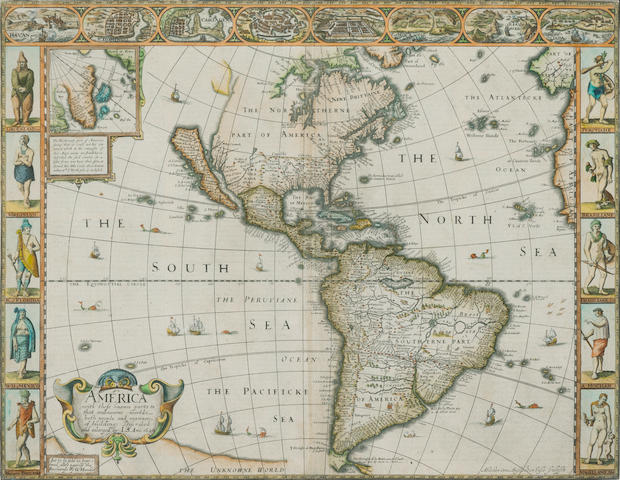 SPEED, JOHN. 1552-1629. America, with those known parts in that unknowne worlde. London: G. Humble, 1626.