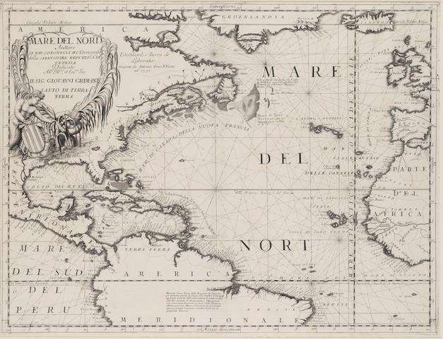 CORONELLI, VINCENZO MARIA. 1650-1718. Mare del Nord. Venice: [1691].