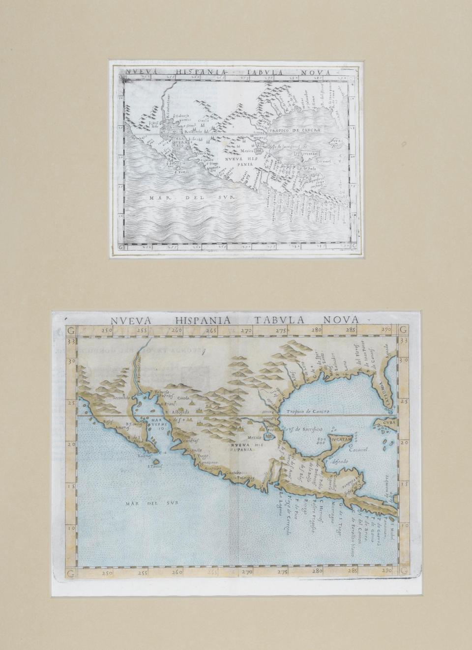 Gastaldi, Giacomo. c.1500-1565. Nueva Hispania Tabula Nova. [Venice: 1548.]