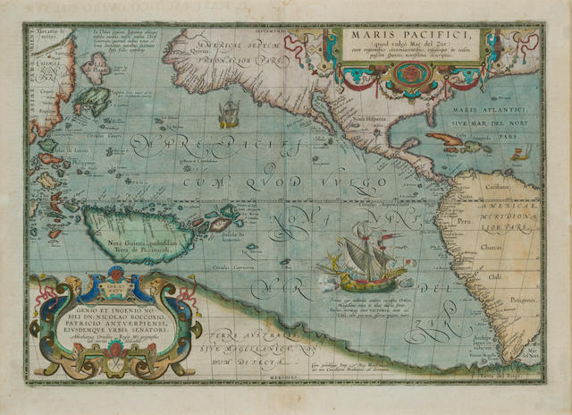 ORTELIUS, Abraham. 1527-1598. Maris Pacifici. [Antwerp: 1590 or later.]