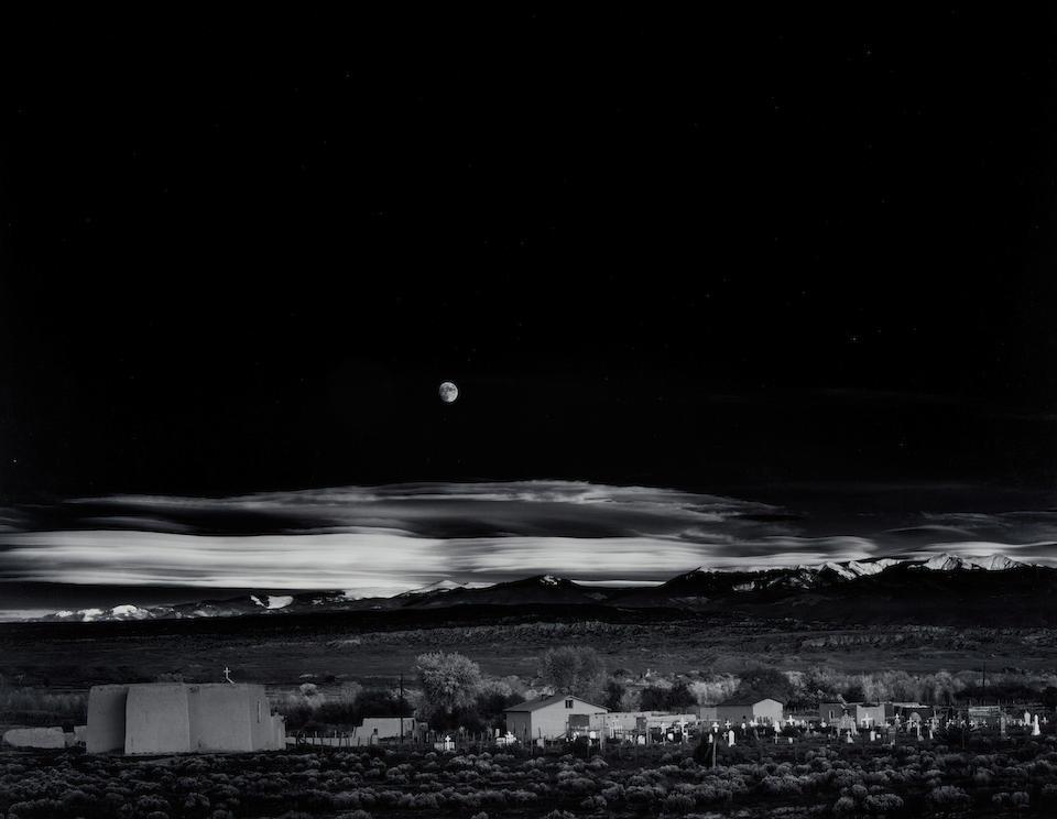 Ansel Adams (1902-1984); Moonrise, Hernandez, New Mexico;