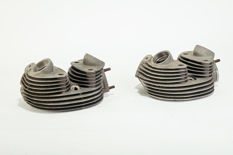 A set of Vincent cylinder heads  ((2))