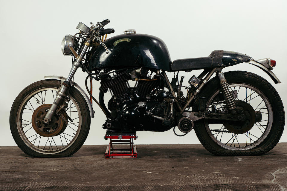 c.1968 Egli-Vincent 1300cc Black Shadow Project Frame no. EV5  Engine no. EV13AL F10/AB/1/1821