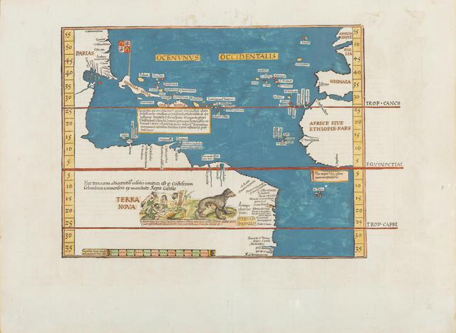 Waldseemueller, Martin. 1470-1521. Oceani Occidentalis seu Terrae Nove Tabula. [Strasbourg: Laurent Fries, 1525.]