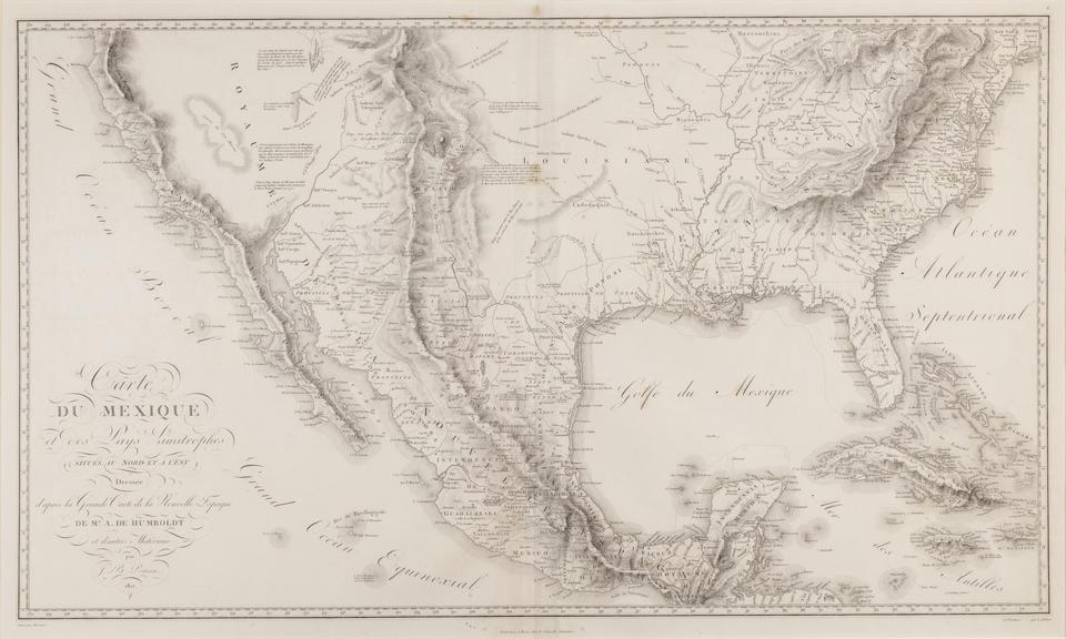 POIRSON, J.B. 1760-1831. Carte du Mexique..d'apres la grande carte de la Nouvelle Espagne de Mr A de Humboldt. Paris: 1811.
