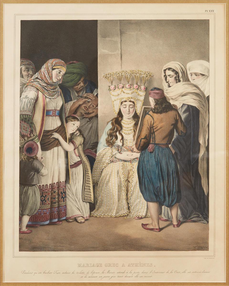 DUPRÉ, LOUIS. 1789-1837. Voyage a Athenes et a Constantinople. Paris: Dondey-Dupré, 1825.