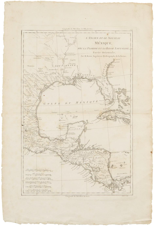 FER, NICOLAS DE. 1646-1720. Les Costes aux environs de la Riviere der Misisipi, decouvertes par Mr de la Salle en 1683 [WITH:] Le vieux Mexique ou  Nouvelle Espagne avec les costes de le Floride. Paris: 1705.