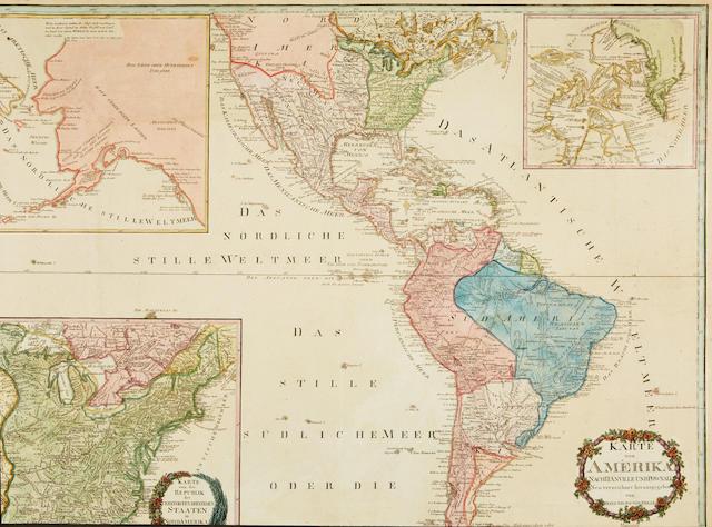 Reilly, Franz Johann Joseph von. 1766-1820. Karte von Amerika. Nach d'Anville und Pownall Neu Verzeichnet Herausgegeben. [Vienna]: 1795.