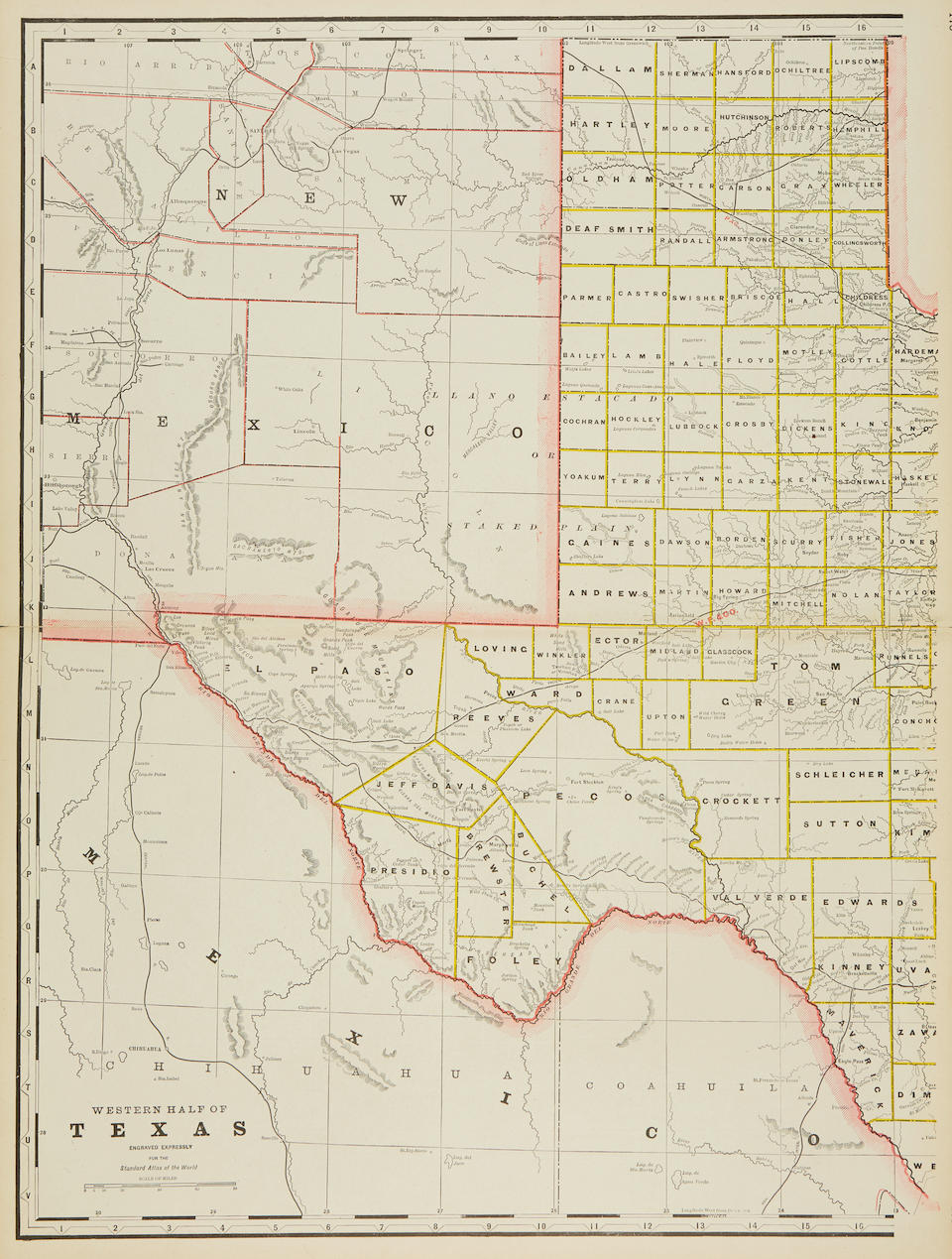 Texas. Mitchell, Samuel Augustus. County Map of the State of Texas. Philadelphia: 1878.