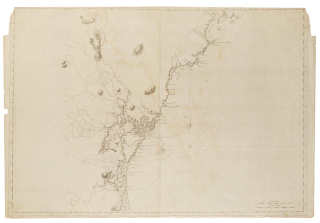 Des Barres, Joseph Frederick Wallet. 1721-1824. [Untitled chart of the coastline of New Hampshire and southern Maine, from Newburyport N.H. to Cape Elizabeth, Maine.] [London]: Published according to Act, April 29th 1776.