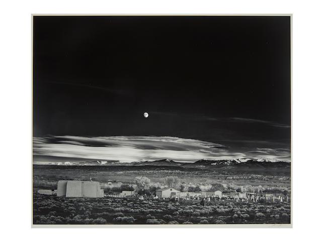 Ansel Adams (1902-1984); Moonrise, Hernandez, NM;