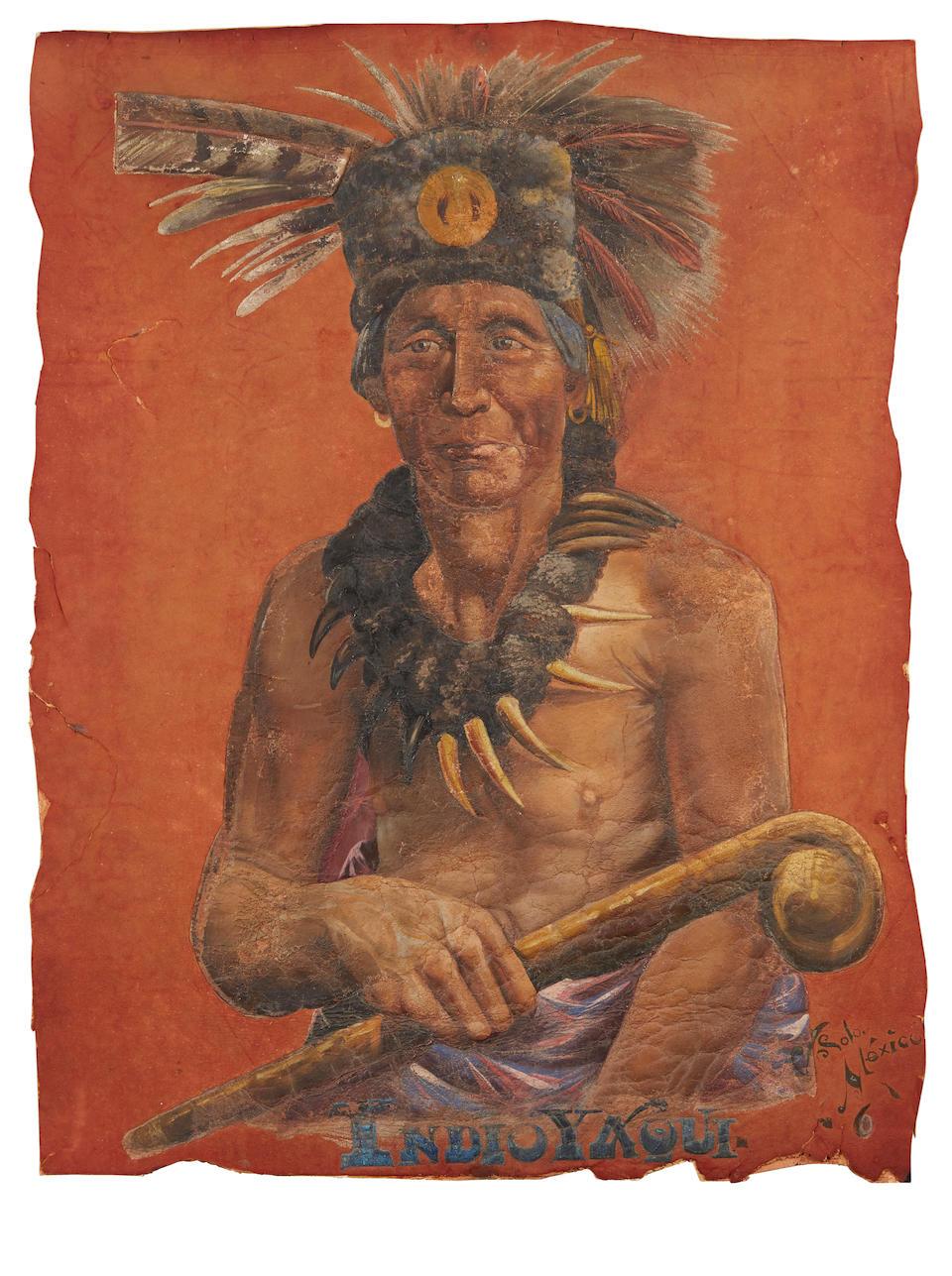 Native American Portrait. Solo V,    Indio Yaqui. [Mexico: c.1900.]