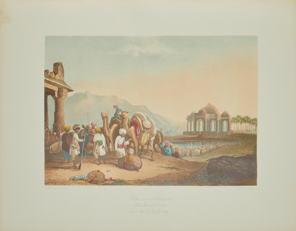 GRINDLAY, ROBERT MELVILLE. 1786-1877. Scenery, Costumes and Architecture, chiefly on the Western Side of India. London: Smith Elder & Co., 1830 [but 1892].