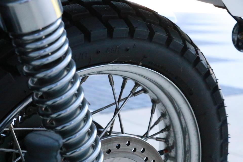 36 miles from new, 2006 Triumph 900cc Bonneville Scrambler Frame no. SMT925RN56J257706