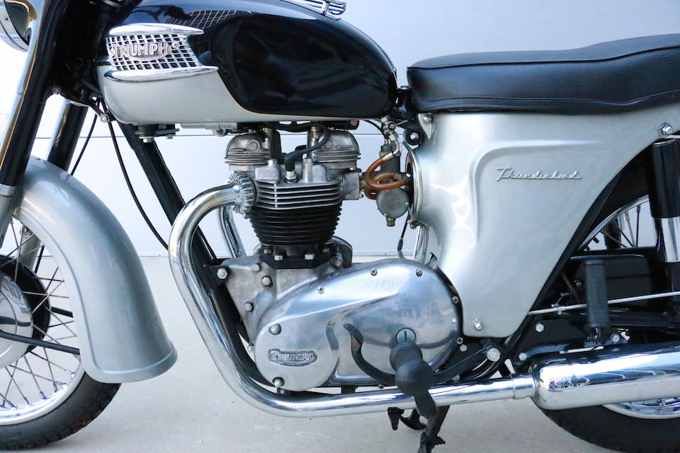 1963 Triumph 650cc 6T Thunderbird Frame no. F5264 Engine no. DU855