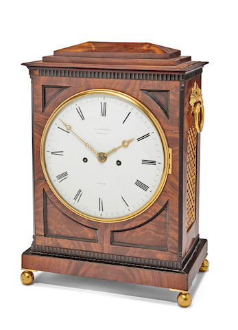 A inlaid mahogany striking table clockSigned D & W Morice, Cornhill, London Second quarter 19th century