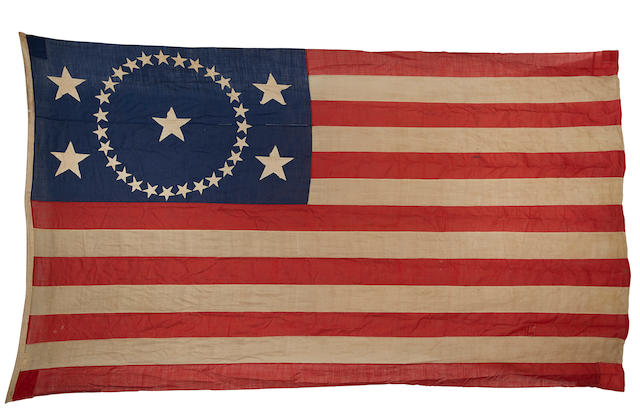 32-star American flag. [In use 1858-59.]