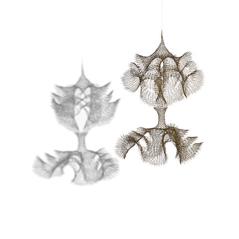 Ruth Asawa (1926-2013) Untitled (S.165, Hanging Two-Sectioned, Open Windows Form), circa 1958-60