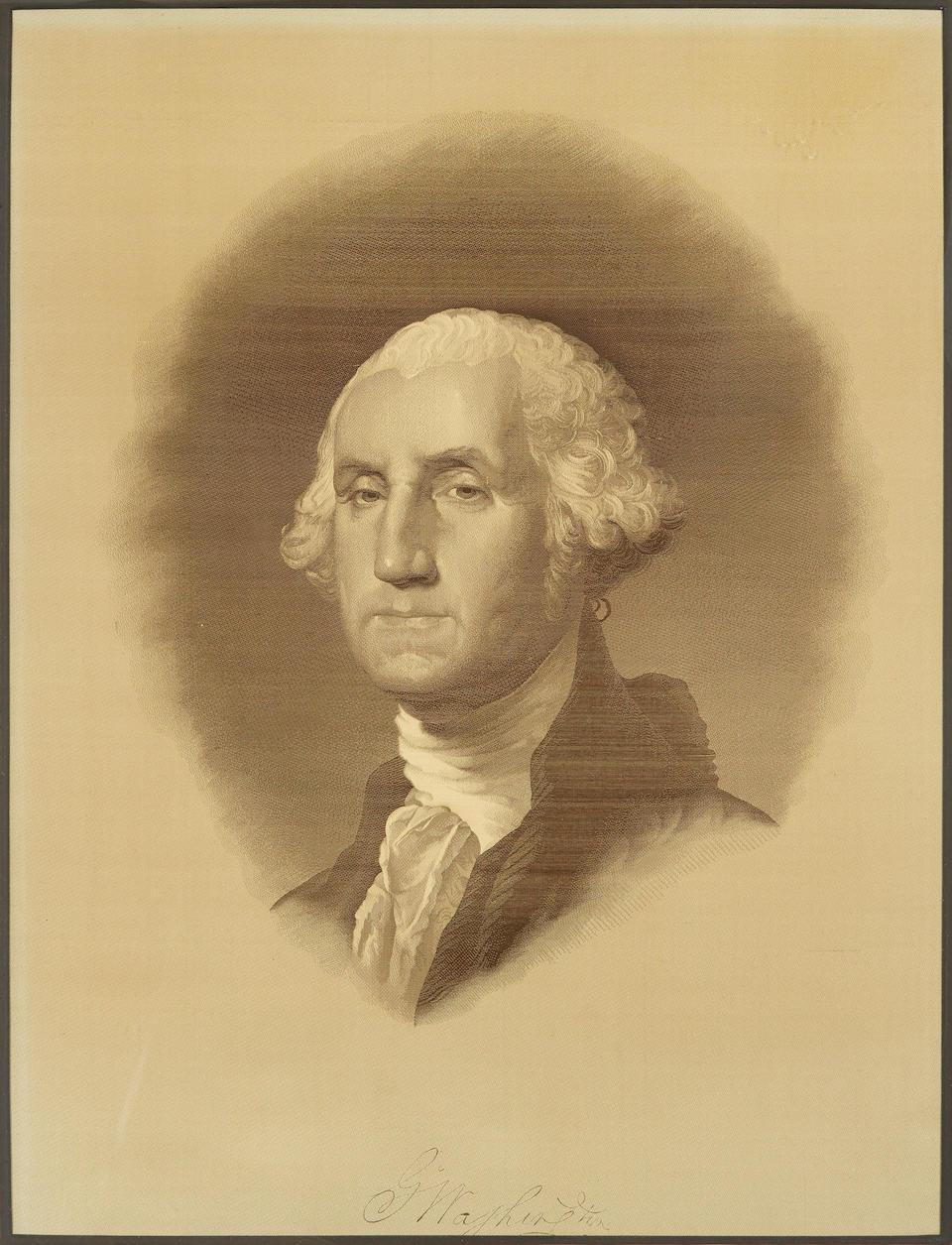 WASHINGTONIANA. [After Gilbert Stuart.] Portrait of George Washington. [n.p: c.1855.]