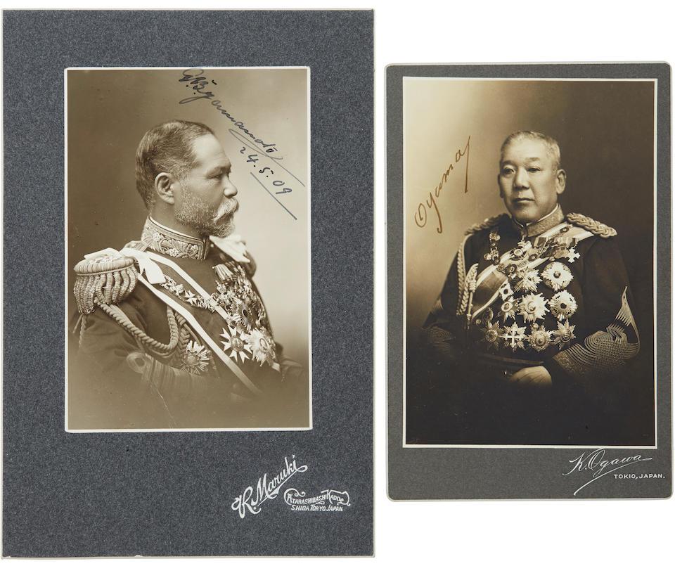 JAPANESE MILITARY. Two signed photographs: 1. Carte-de-visite of Admiral Isoroku Yamamoto,
