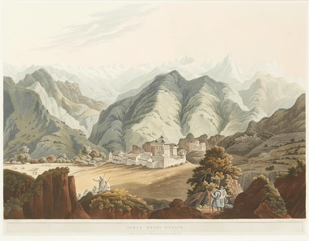 FRASER, JAMES BAILLIE. 1783-1856. 3 hand-colored aquatint plates from Views in the Himala Mountains. London: Rodwell & Martin, 1820.