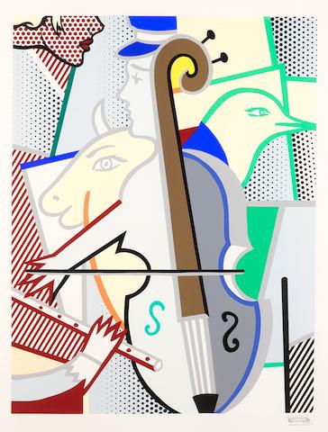 Roy Lichtenstein (1923-1997); Cubist Cello;
